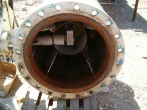 "85cm (33.5"") diameter control valve damaged by corrosion at a wastewater treatment plant"