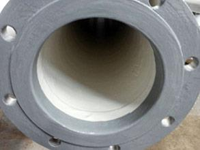 End of pipe and flange faces protected from corrosion using Belzona 1391T